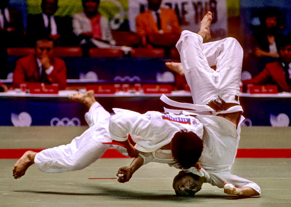 Seoi Nage throw in the first round. Amazingly my opponent spun out of this throw and landed on his stomach for no score!