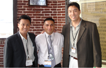 Kevin (left) and Del (right) in Argentina in 2006 with a former prisoner who was shot 16 times and lived to become a testimony of a transformed life of purpose and passion.